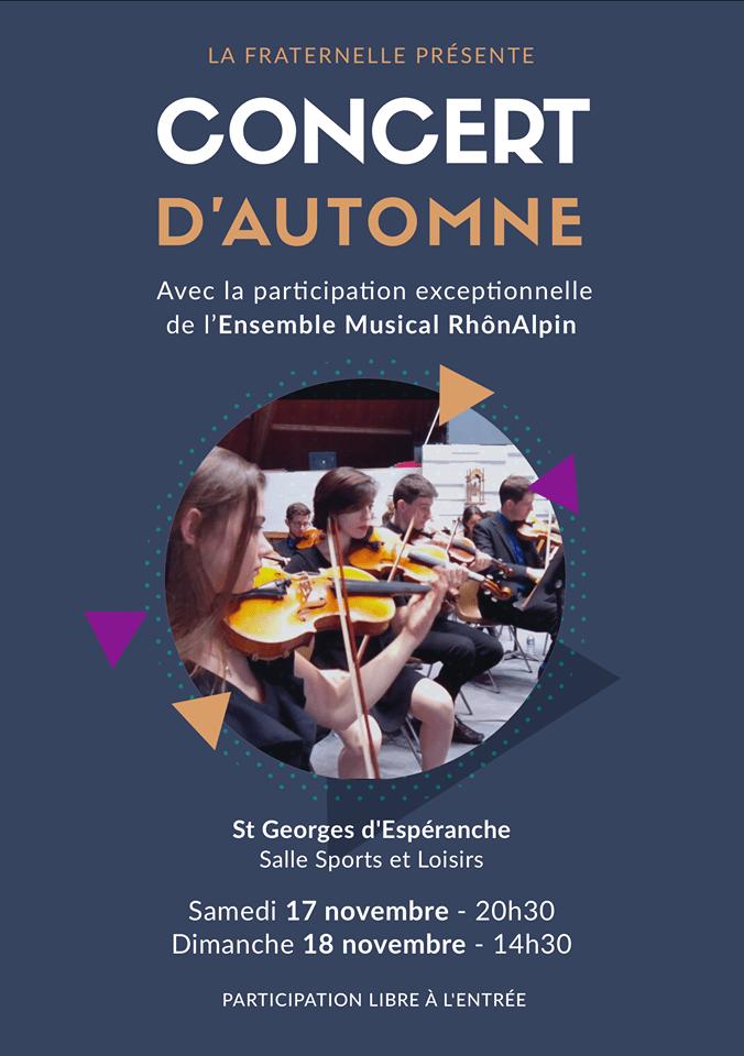 Concert d'automne La Fraternelle