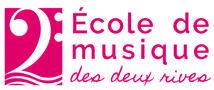 logo ecole de musique des deux rives