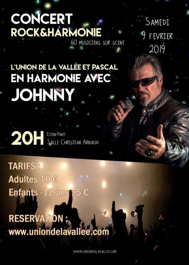 Union de la Vallée concert Johnny
