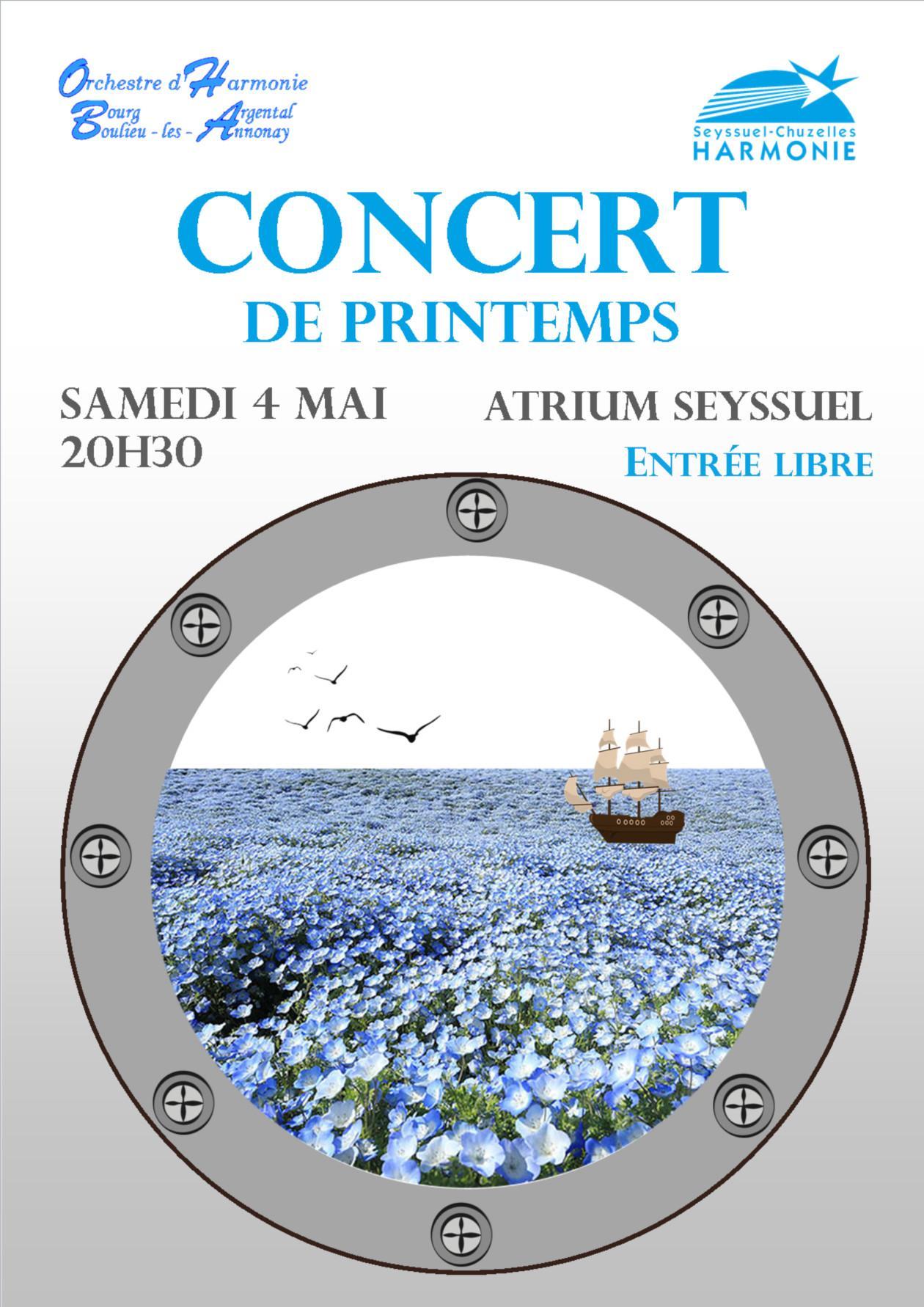 Affiche Concert Printemps 2019 Harmonie de Seyssuel Chuzelles