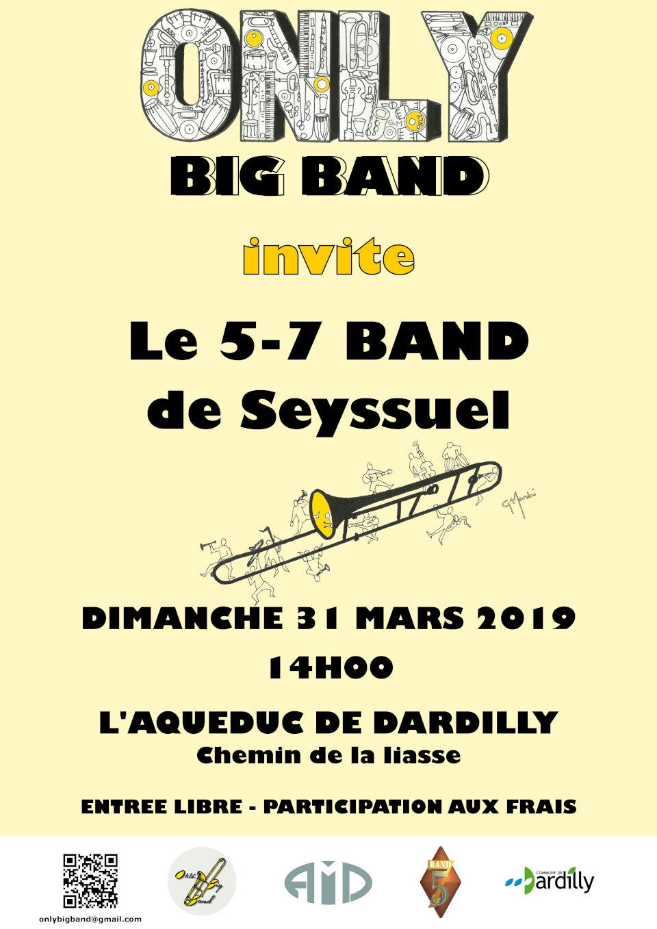 Affiche Only 5/7 Band CMF isère