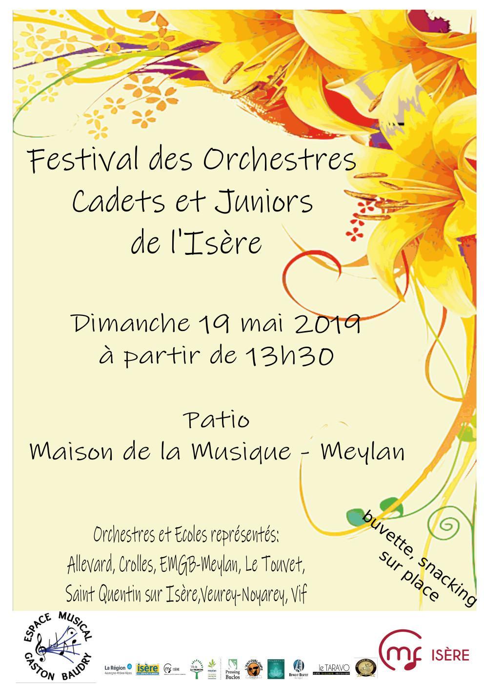 Festival des orchestre cadets et juniors 19 mai 2019