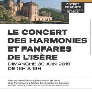 Concert des harmonies et fanfares de l'isère 30 juin 2019