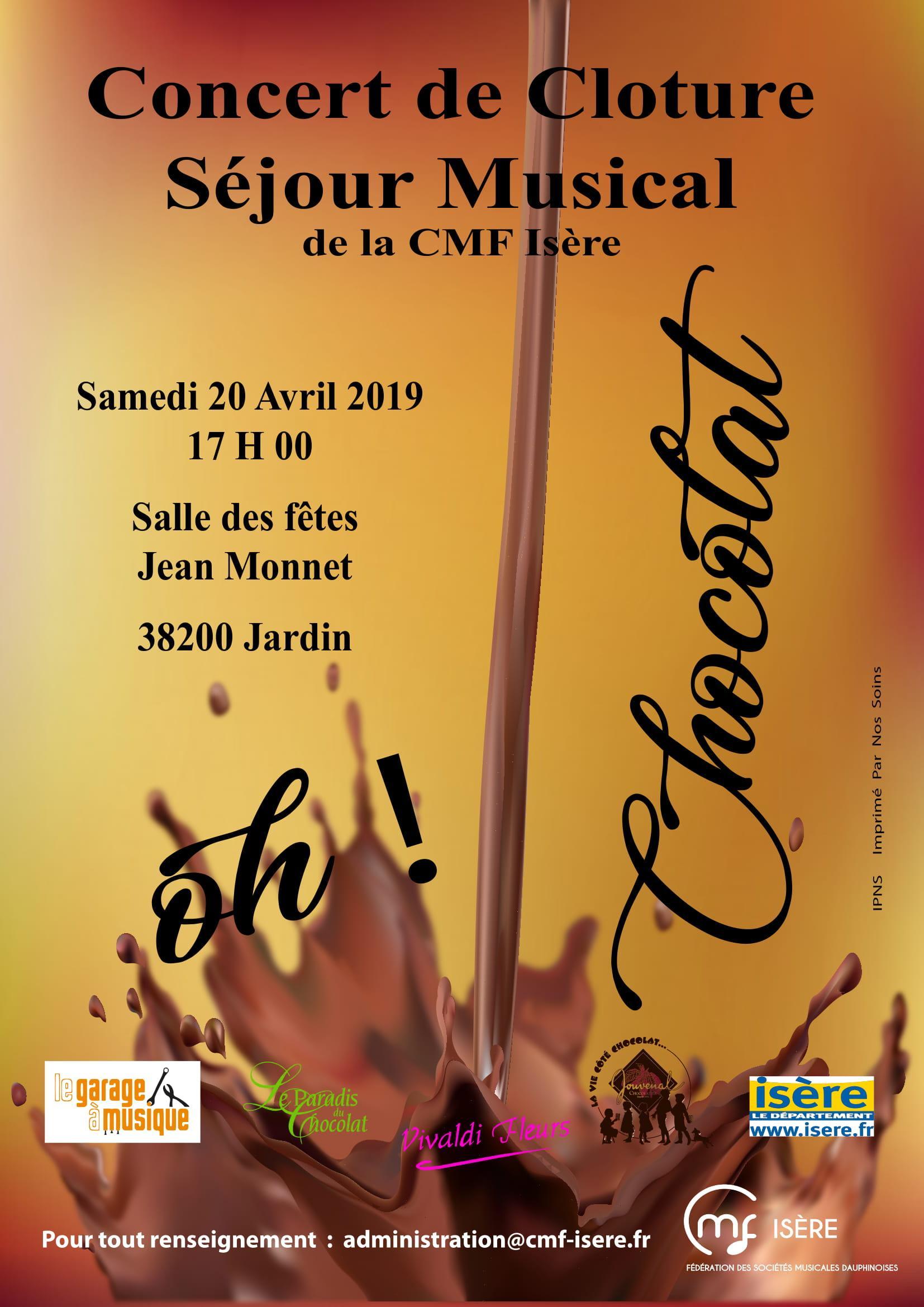 Affiche concert sejour musical CMF Isere 2019