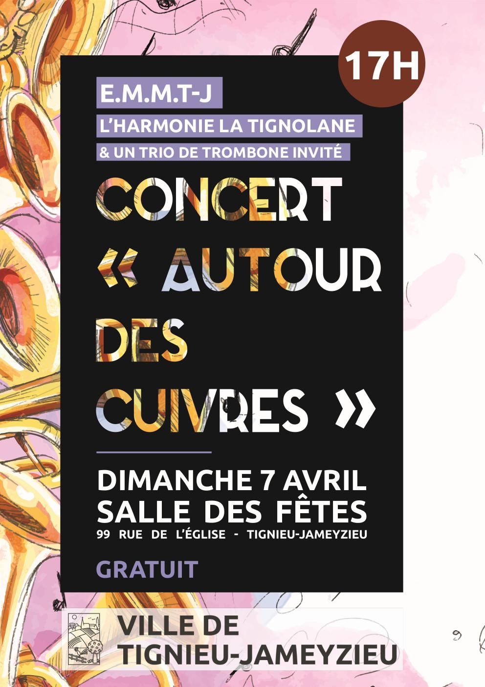 concert 7 avril harmonie la tignolane