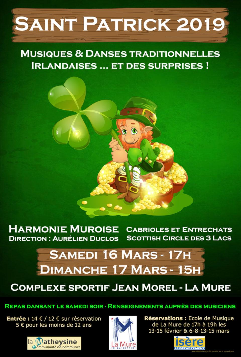 Affiche St Patrick 2019 Harmonie Muroise