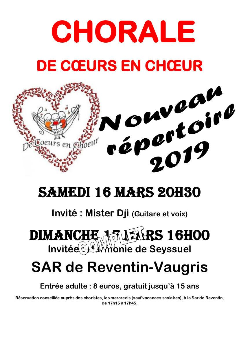 Concert de Cœurs en Chœur 17 mars 2019