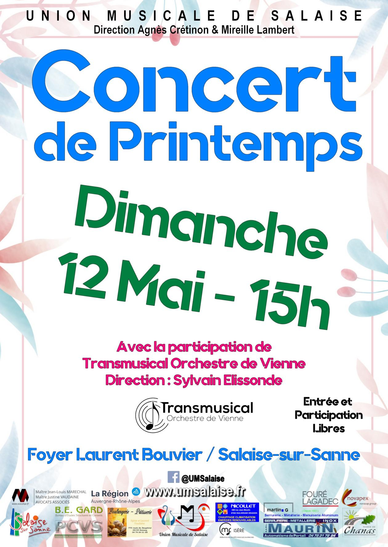 Concert Union Musicale Salaise 120519