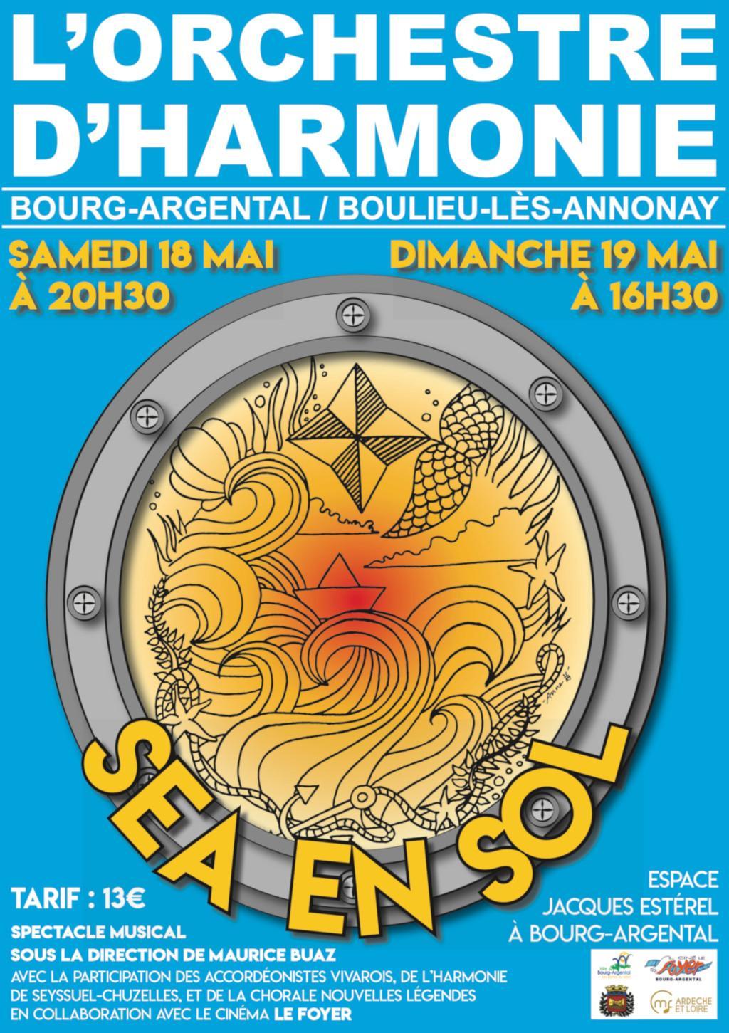 spectacle Sea en Sol harmonie Seyssuel Chuzelles