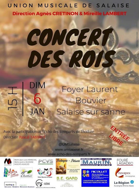 concert union musicale Salaise 06-01-19