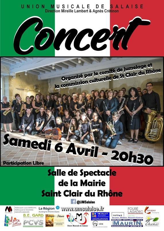 Union Musicale de Salaise concert du 6 avril 2019