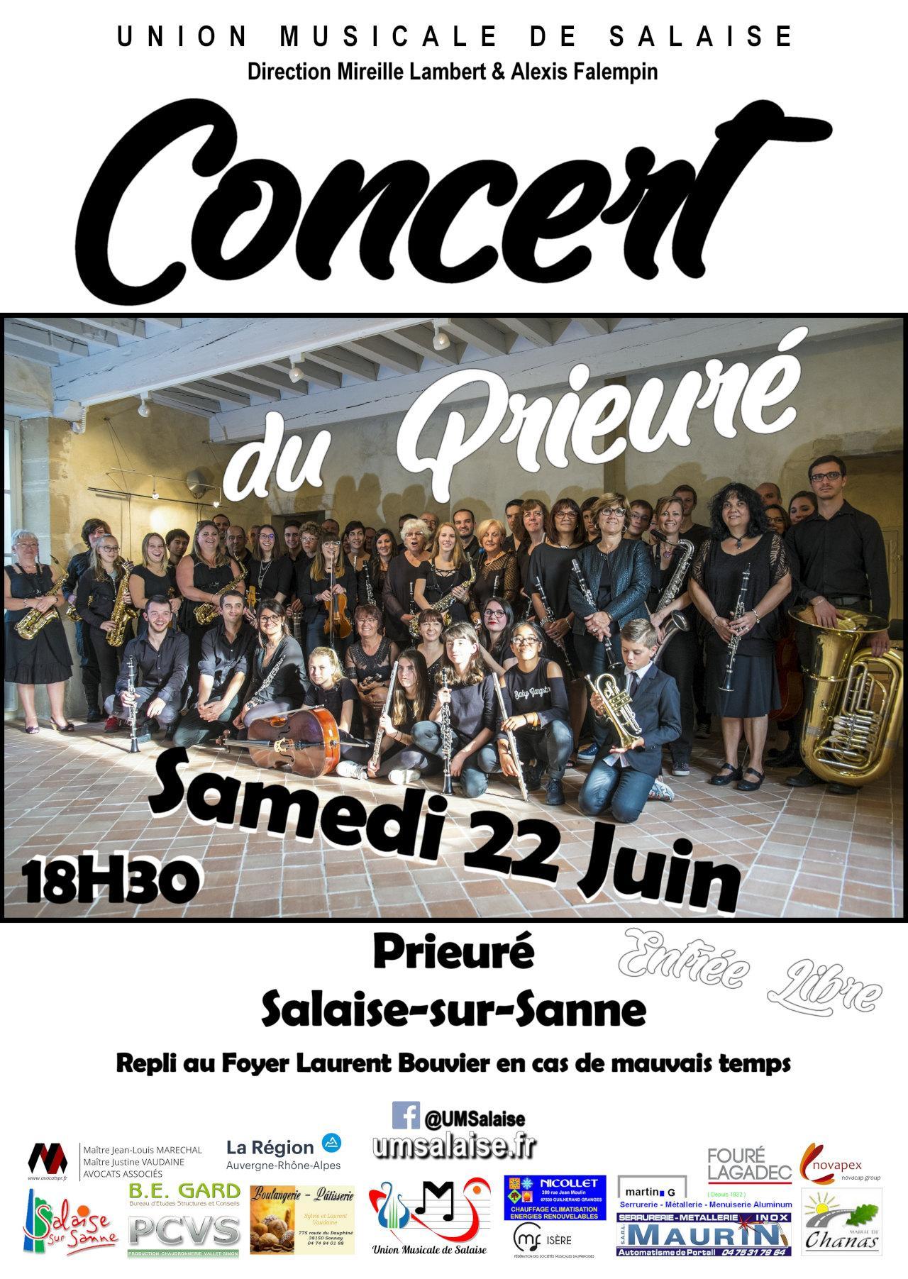 union musicale de salaise concert prieure
