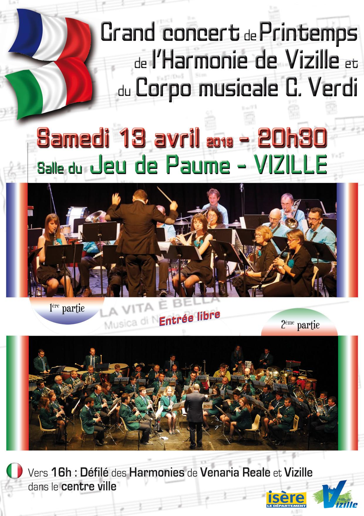 Concert Harmonie vizille 13 avril 2019