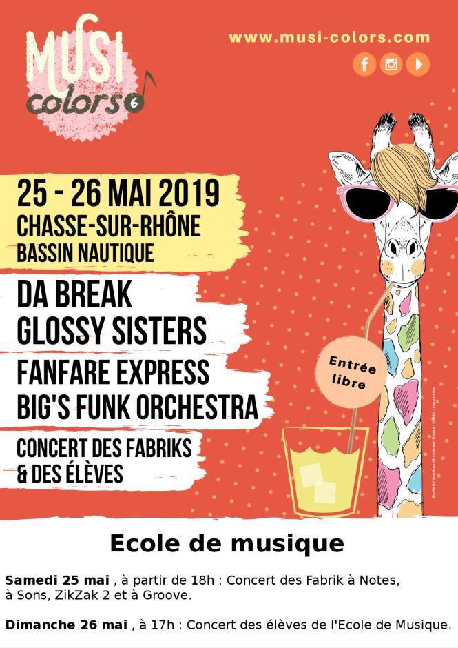 Musi Colors 2019 Ecole de musique de Chasse sur Rhône