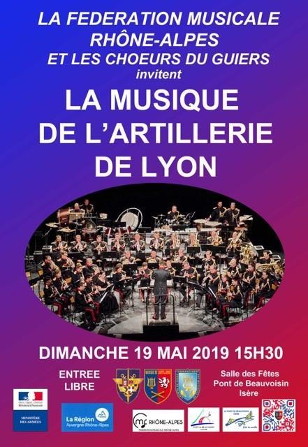 Concert Artillerie de Lyon cmf rhone alpes