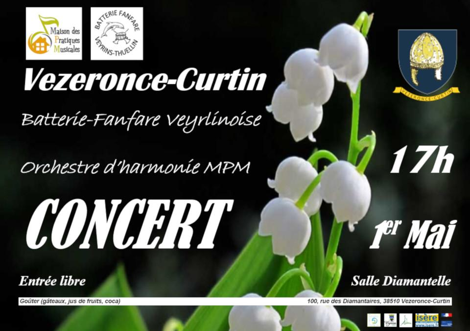 Concert Batterie Fanfanre Veyrlinoise 1er mai 2019