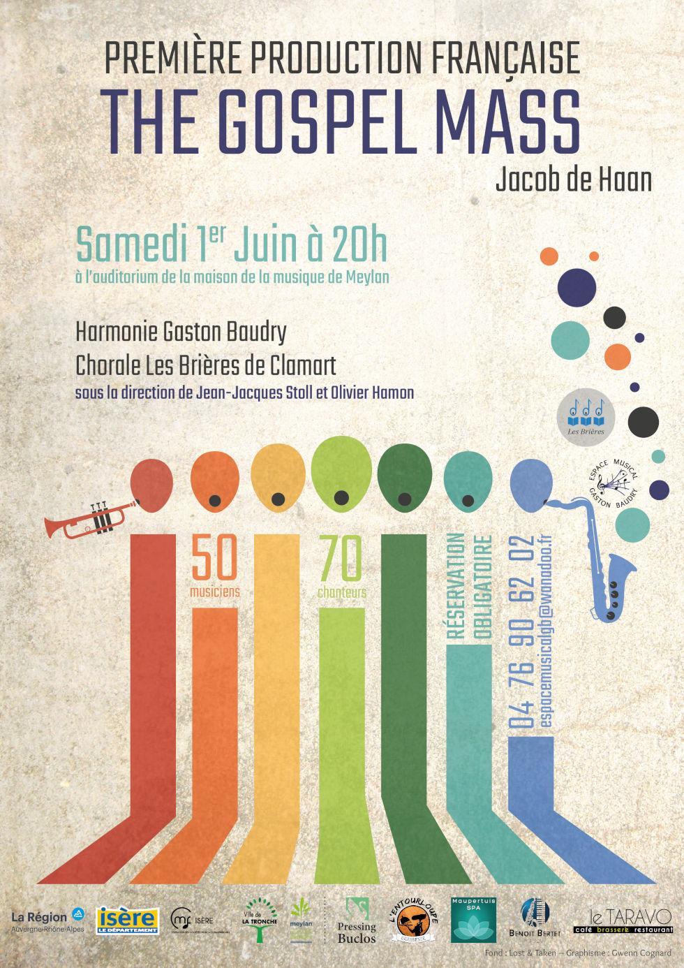 Concert Gospel Mass Harmonie Gaston Baudry