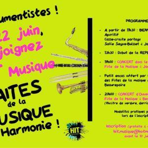 Affiche Faites de la musique 22-06-19 Jarcieu
