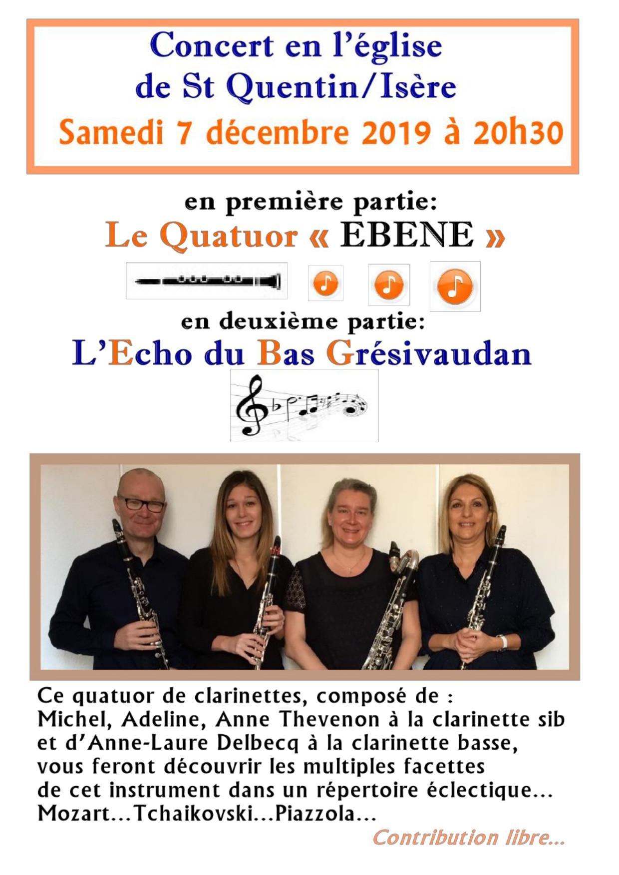 Concert Echos du bas Grésivaudan 7 décembre 2019