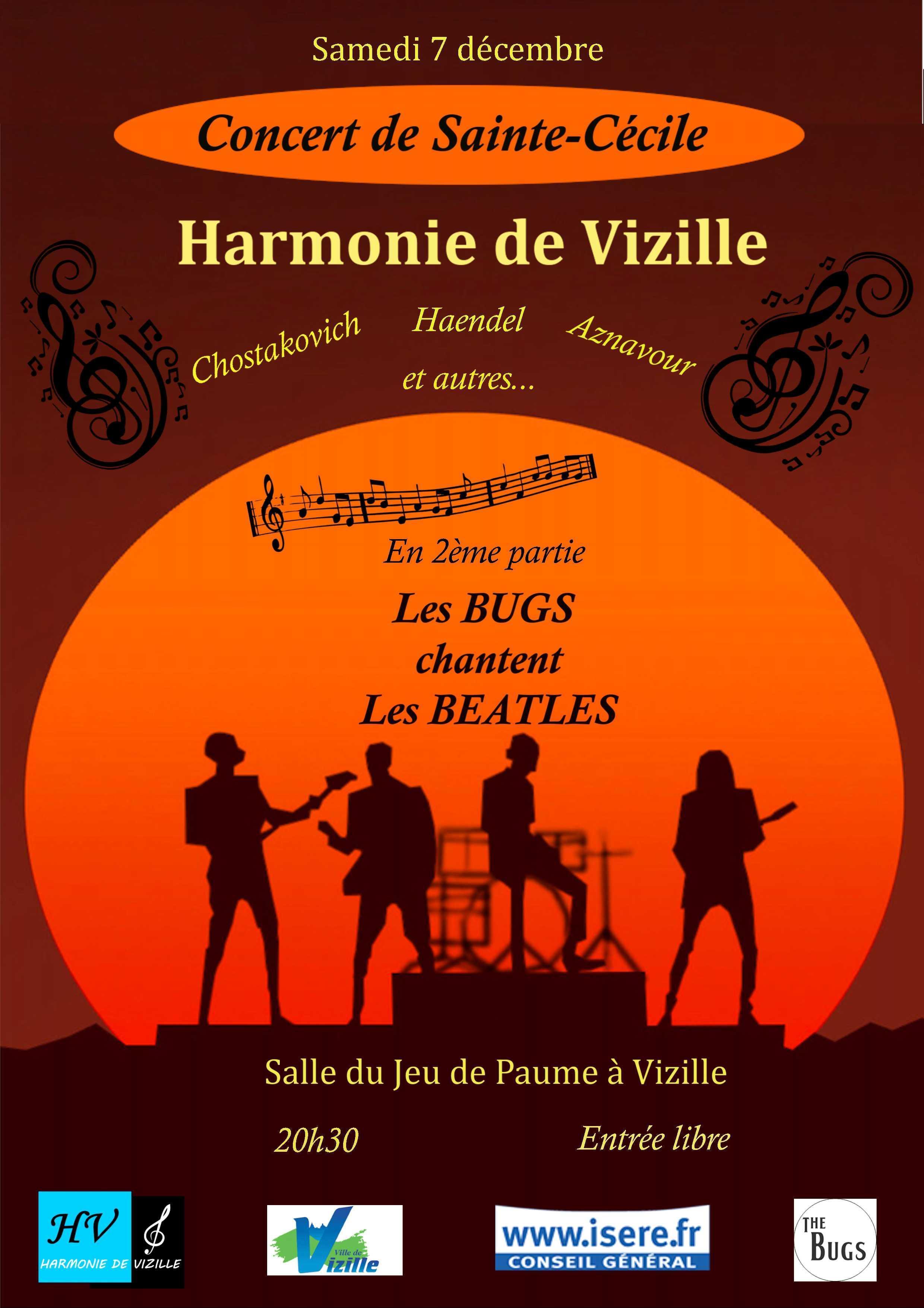 Concert Sainte cecile harmonie de Vizille