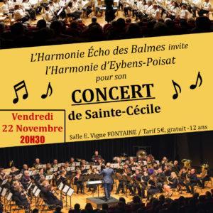 Concert harmonie echo des balmes 22 novembre 2019