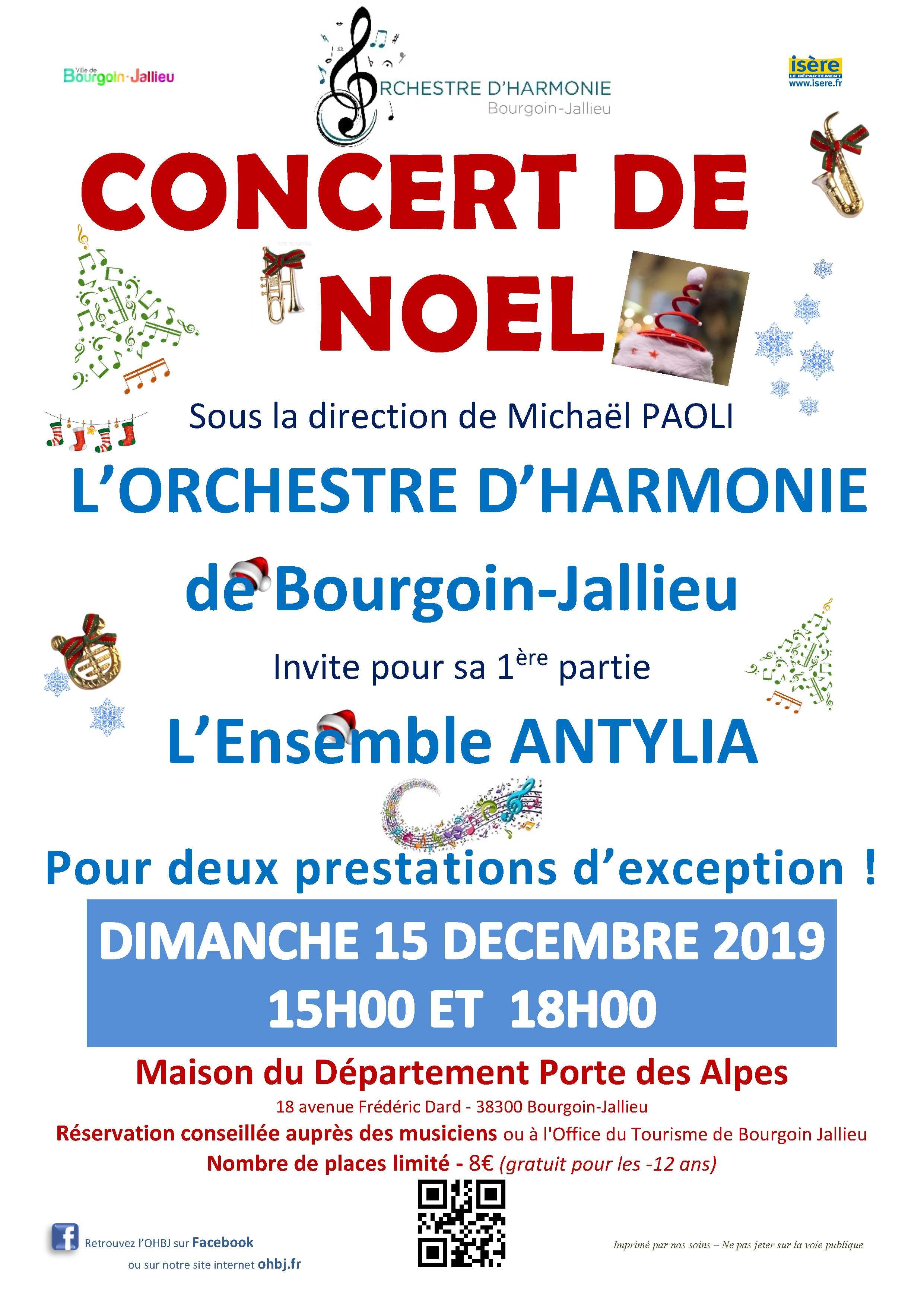 Concert de noel 2019 harmonie de Bourgoin Jallieu
