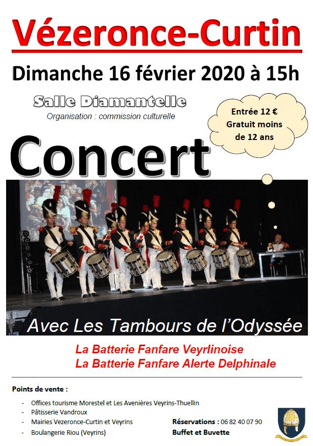 2020 02 16 concert Batterie Fanfare Veyrlinoise et Tambours de l'Odyssée