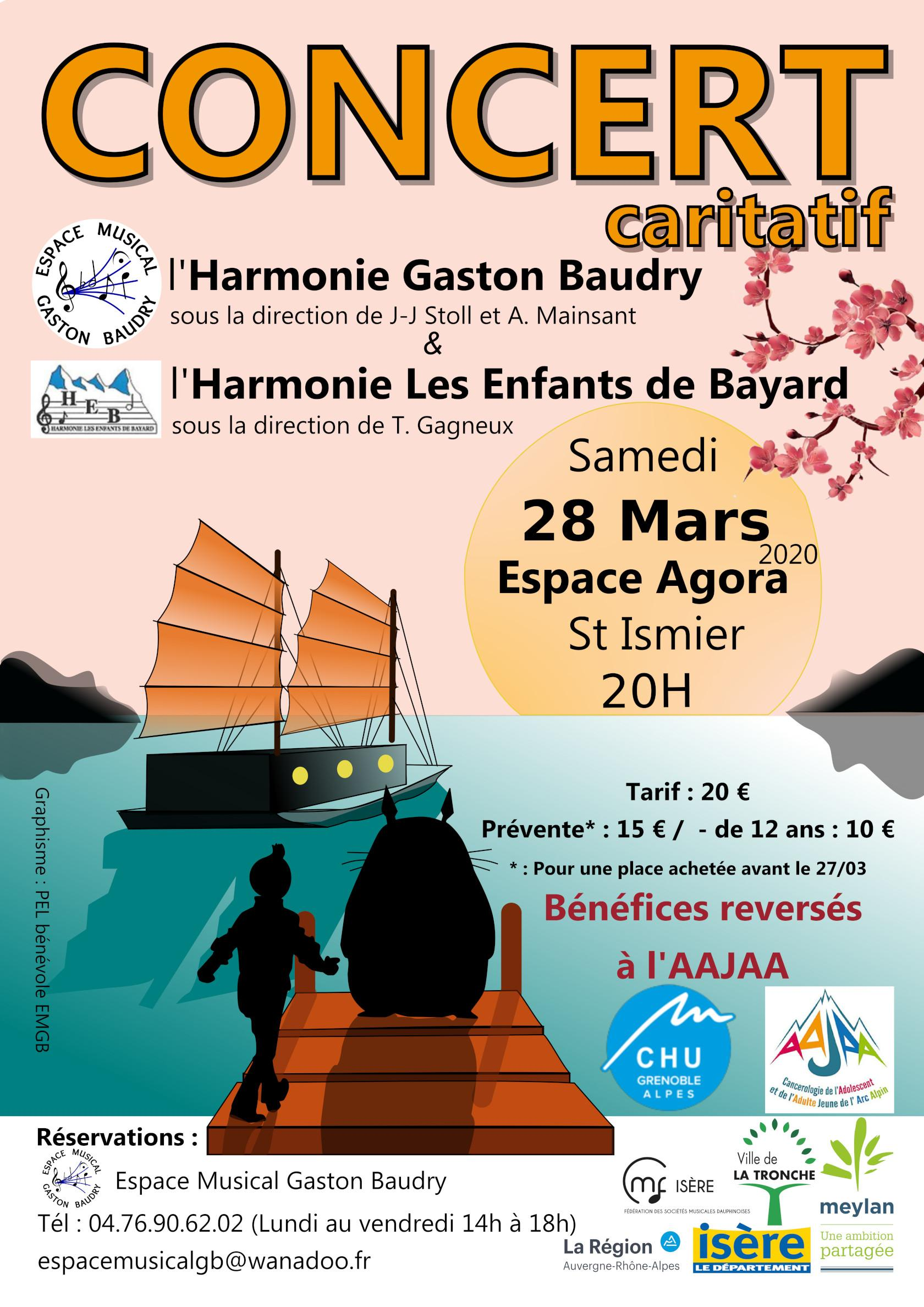 Espace musical gaston baudry, les enfants de bayard, 2020/03/28 Affiche Concert Agora