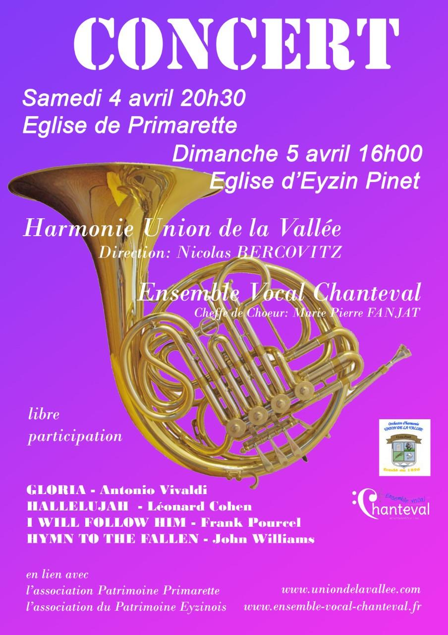 Concert de l'Union de la vallee 4 5 avril 2020
