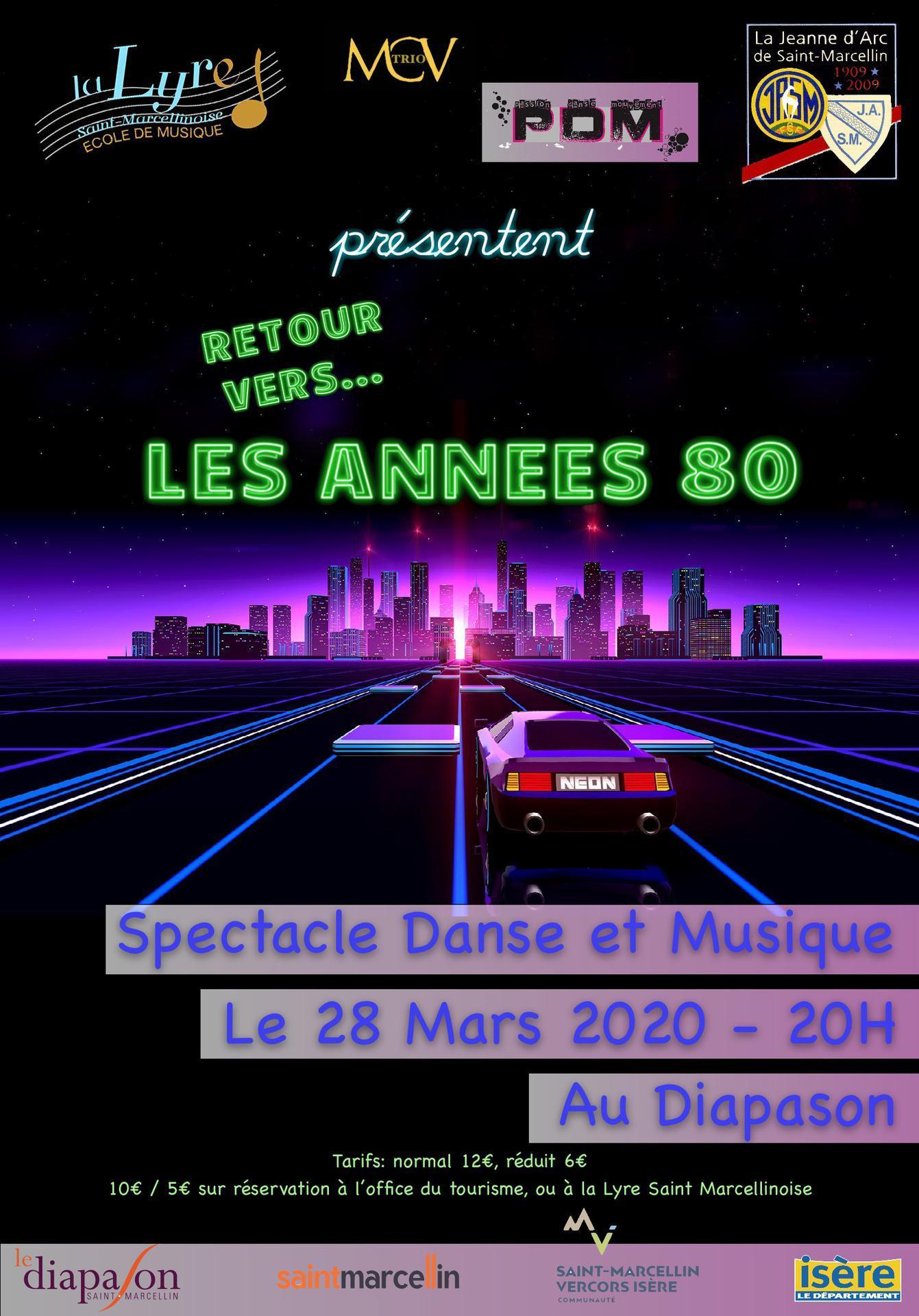 La Lyre Saint Marcellinoise concert les annees 80 28 mars 2020