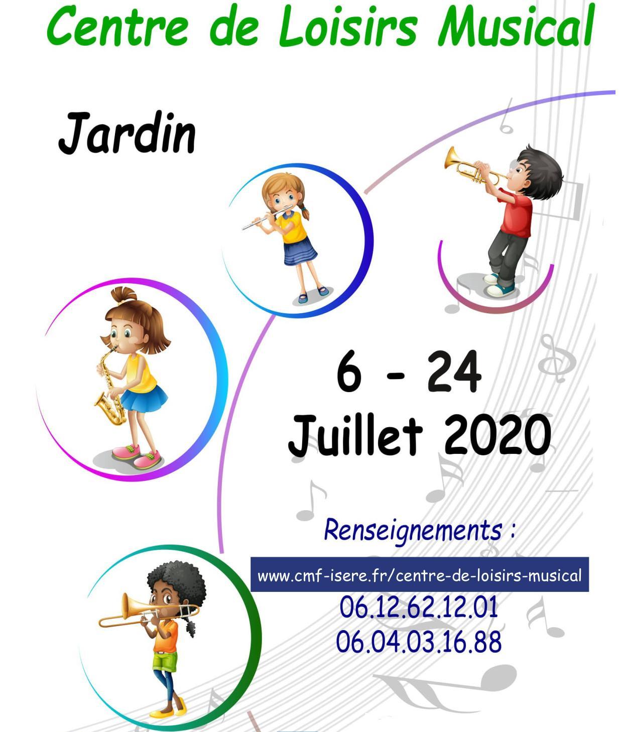 centre de loisirs musical 2020 Jardin isère