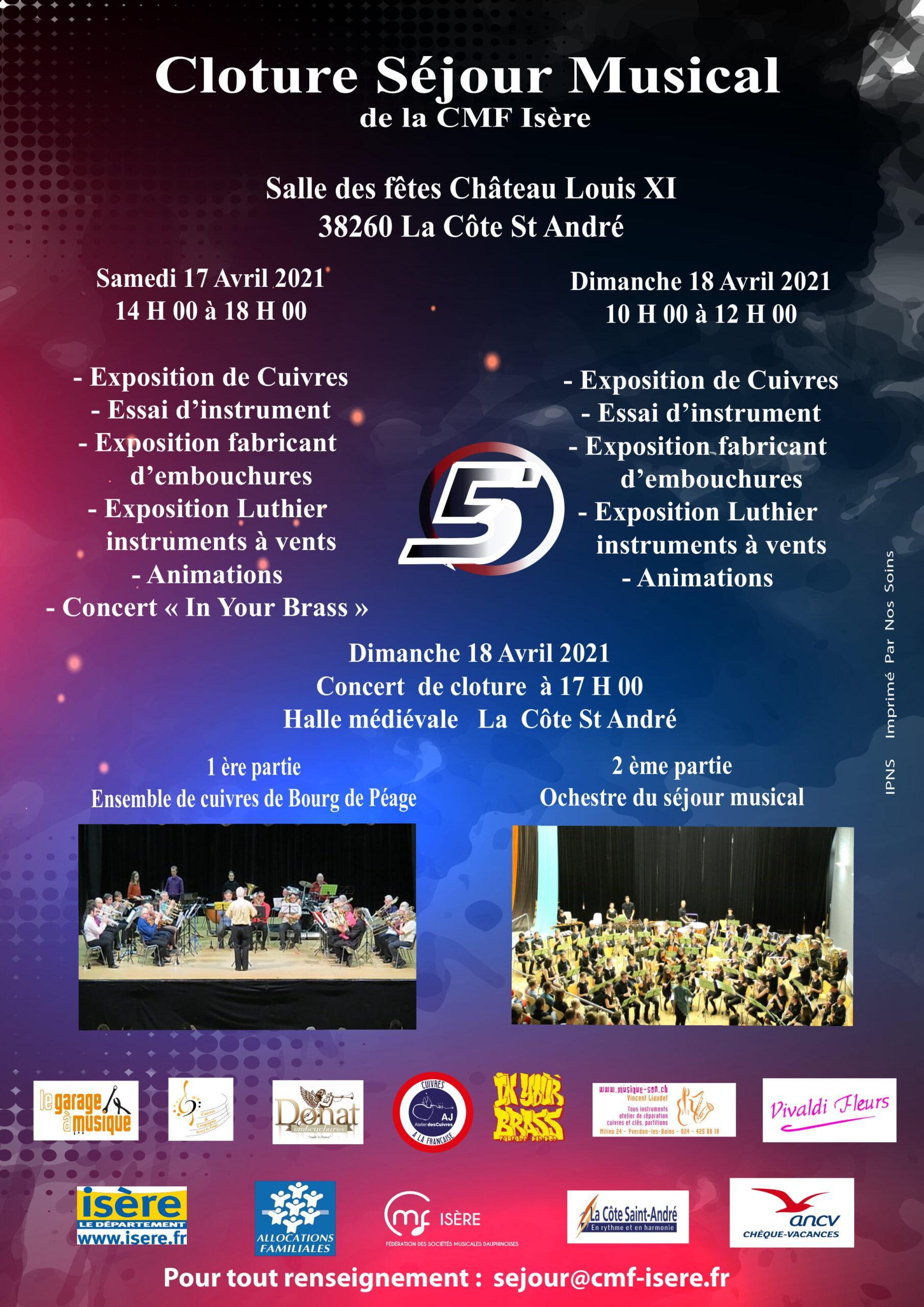 Concert de cloture du séjour musical CMF Isère 2021
