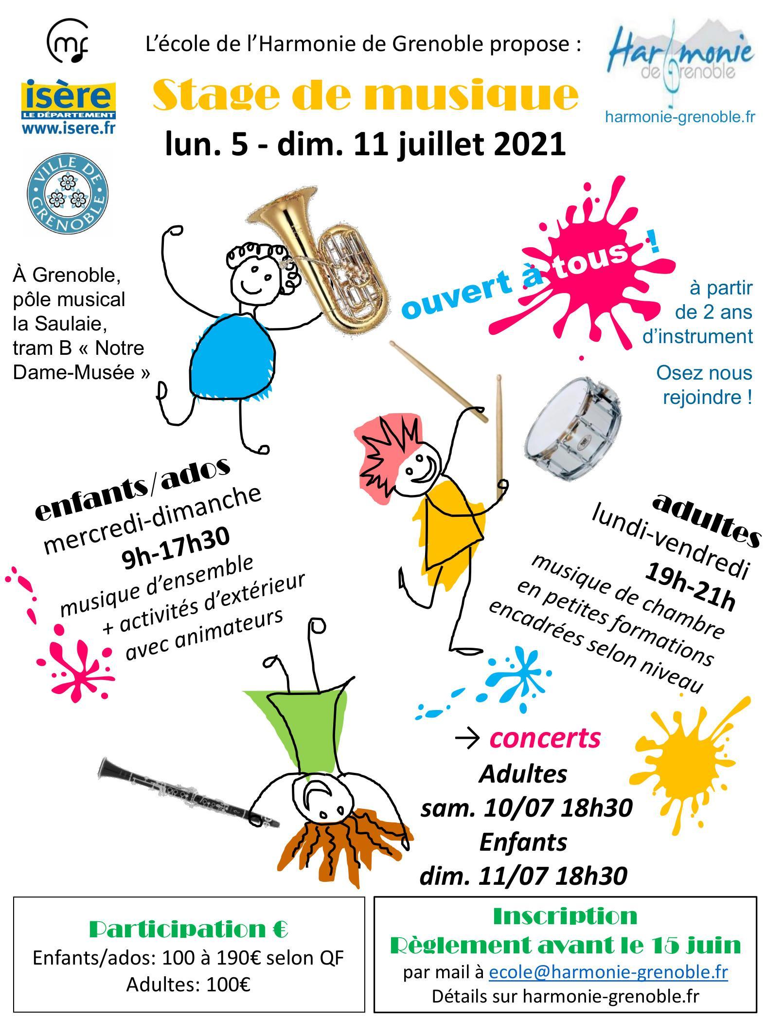 Stage de musique harmonie de Grenoble