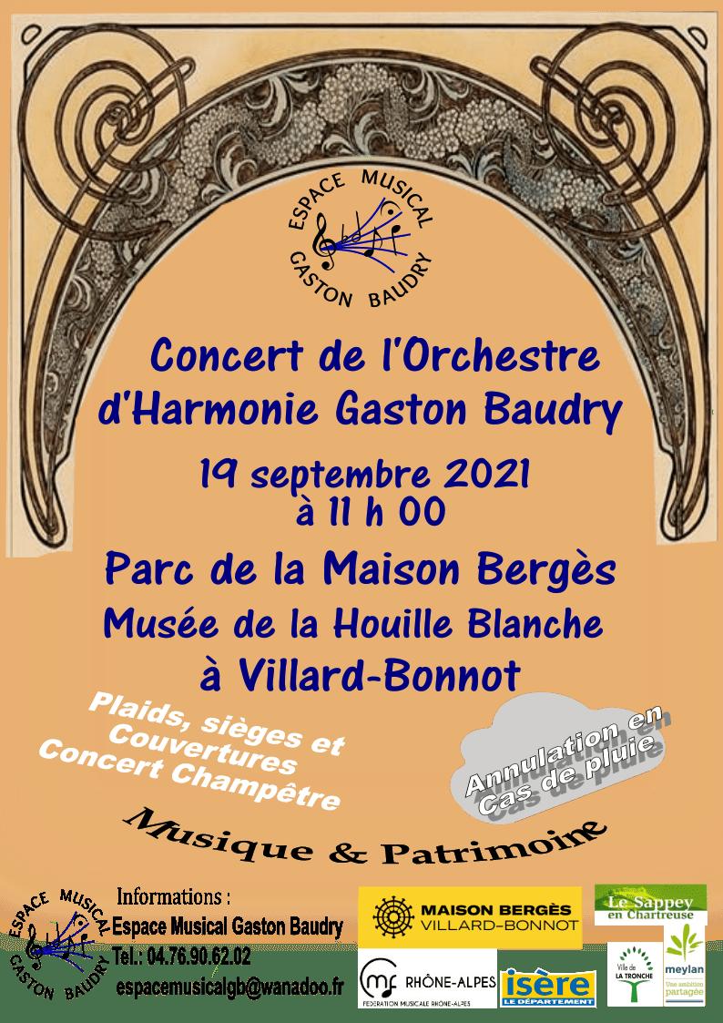 Espace Musical Gaston Baudryaffiche maison berges septembre 2021