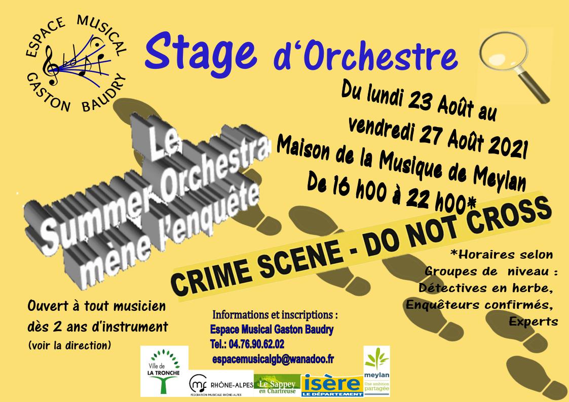Stage d'orchestre Espace Gaston Baudry 2021